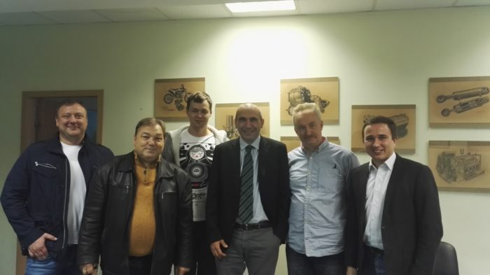From left to right: Roman Milyaev, Andrew Kuzmichov, Oleg Kormilitsin, Riccardo Vaccari, Dmitry Danshov, Gregory Baev